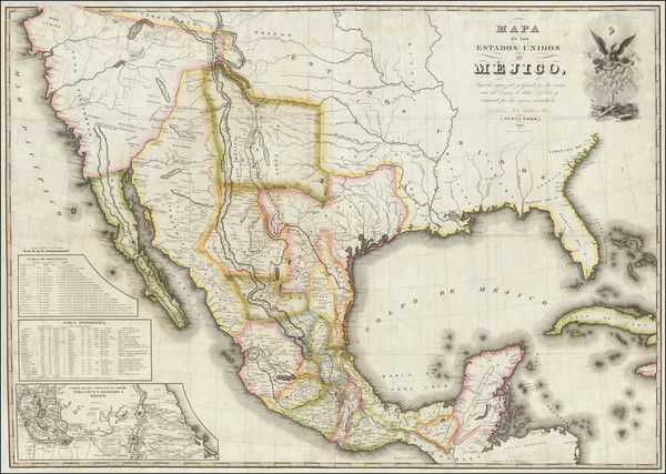85-United States, Texas, Southwest, Mexico and California Map By White, Gallaher & White