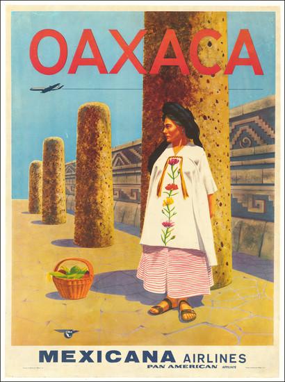 99-Mexico and Travel Posters Map By Mexicana de Aviación