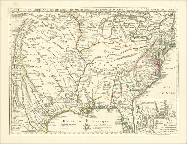 51-United States, South, Midwest and Southwest Map By Jean-Claude Dezauche