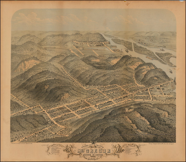 76-Iowa Map By Albert Ruger  &  J.J. Stoner