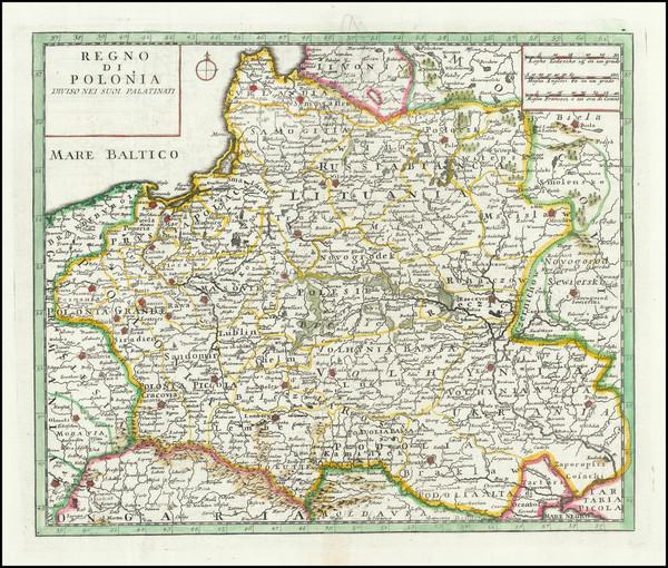 20-Poland Map By Giambattista Albrizzi