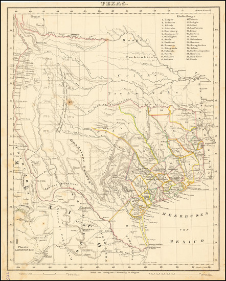 70-Texas Map By Carl Flemming