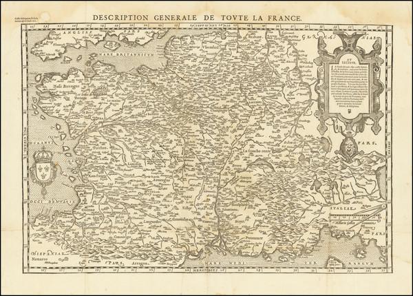 89-France Map By Francois De Belleforest
