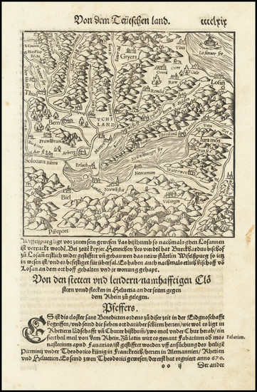 84-Switzerland Map By Sebastian Munster