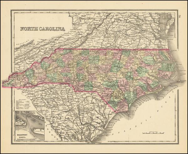 91-North Carolina Map By O.W. Gray