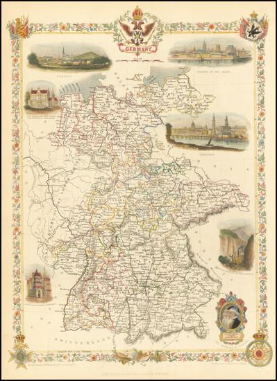 89-Germany Map By John Tallis