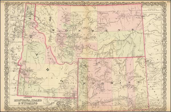 19-Idaho, Montana and Wyoming Map By G.W.  & C.B. Colton