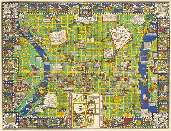 7-Pennsylvania, Pictorial Maps and Philadelphia Map By Blake Clark / Edwin B. Olsen