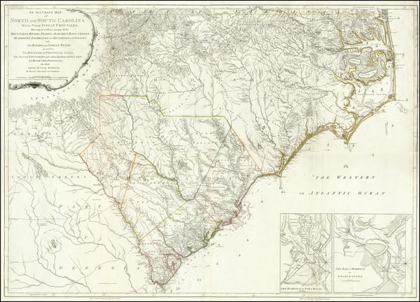 87-Southeast, North Carolina and South Carolina Map By Henry Mouzon