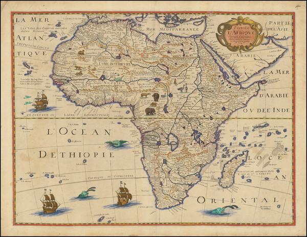 97-Africa Map By Petrus Bertius / Michel Van Lochem