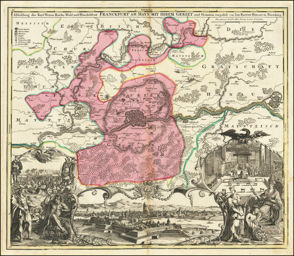 4-Germany Map By Johann Baptist Homann
