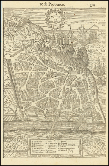 23-Other French Cities Map By Francois De Belleforest