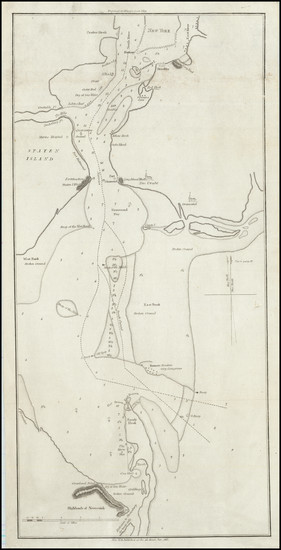 47-New York State and New Jersey Map By Edmund M. Blunt