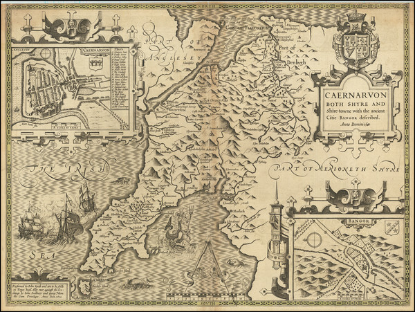 18-Wales Map By John Speed