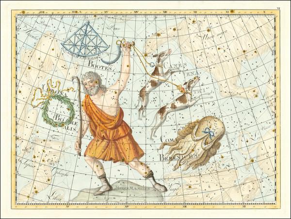 88-Celestial Maps Map By Johann Elert Bode
