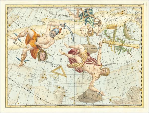 5-Celestial Maps Map By Johann Elert Bode