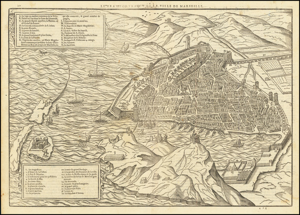 86-Other French Cities Map By Francois De Belleforest
