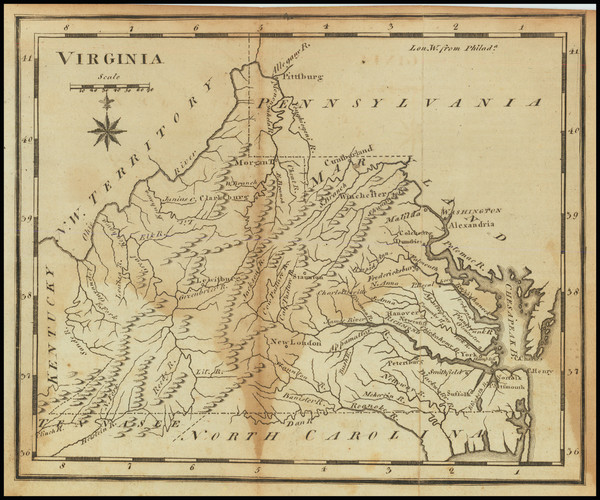 94-Virginia Map By Joseph Scott