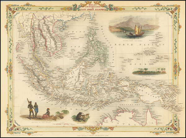 47-Southeast Asia, Philippines, Indonesia, Malaysia and Thailand, Cambodia, Vietnam Map By John Ta