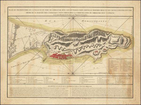 99-Gibraltar Map By Jean Lattré