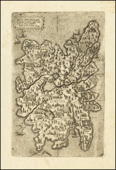 33-Corsica Map By Ferrando Bertelli