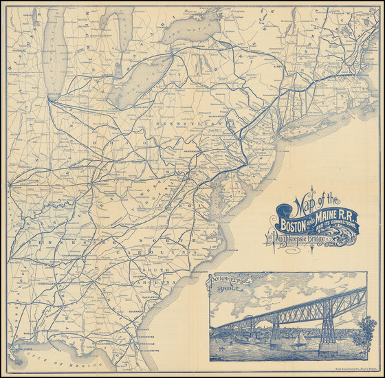 88-United States Map By Boston & Maine R.R.