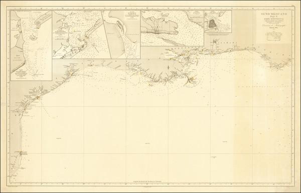 40-Florida, Alabama, Mississippi and Texas Map By Direccion Hidrografica de Madrid