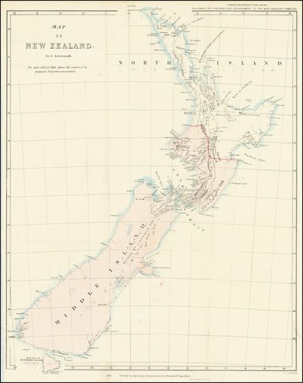 68-New Zealand Map By John Arrowsmith