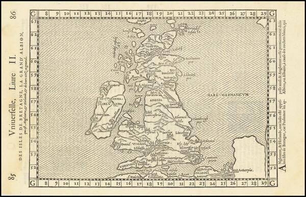 9-British Isles Map By Francois De Belleforest