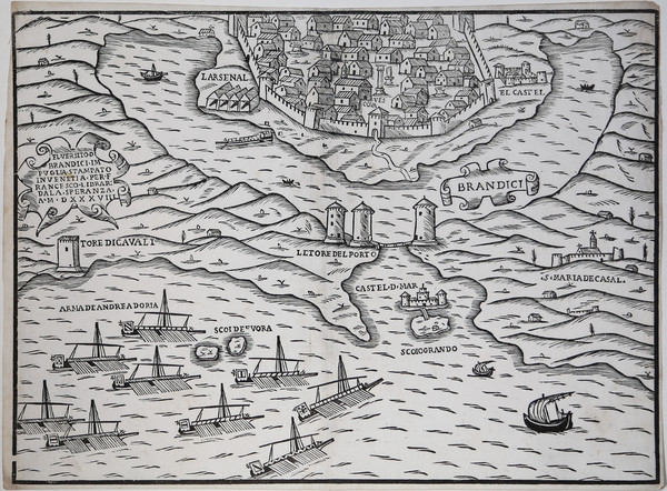 85-Southern Italy and Other Italian Cities Map By Francesco di Salo