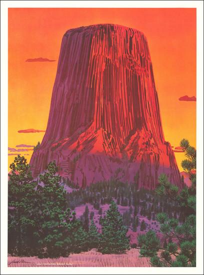 85-Wyoming Map By Jack Dumas
