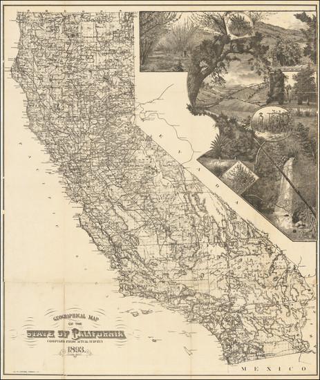 70-California Map By H.S. Crocker & Co.