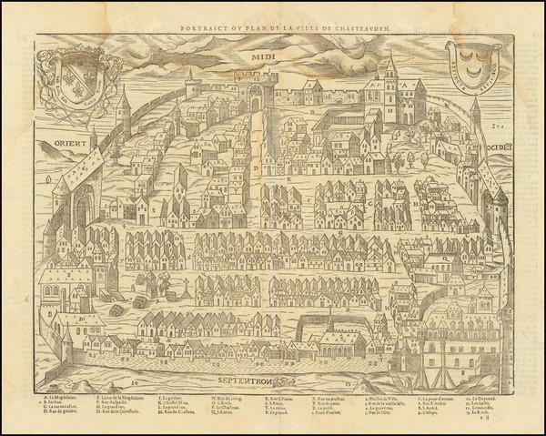 24-Other French Cities and Centre et Pays de la Loire Map By Francois De Belleforest