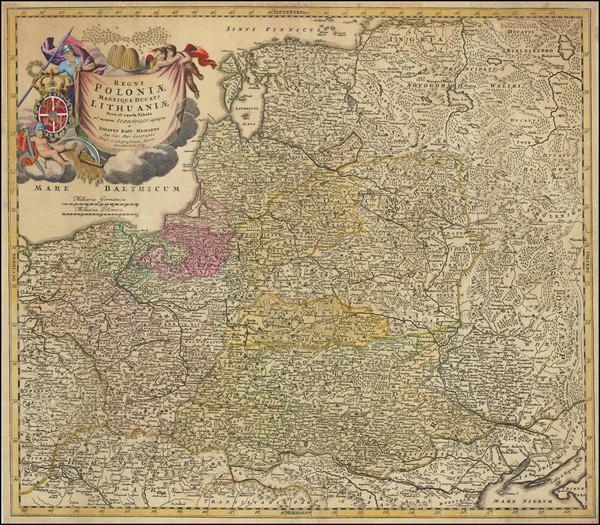 23-Poland and Baltic Countries Map By Johann Baptist Homann