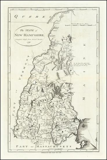 33-New Hampshire Map By John Reid