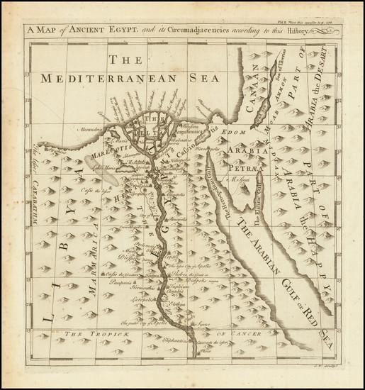 95-Egypt Map By Emanuel Bowen