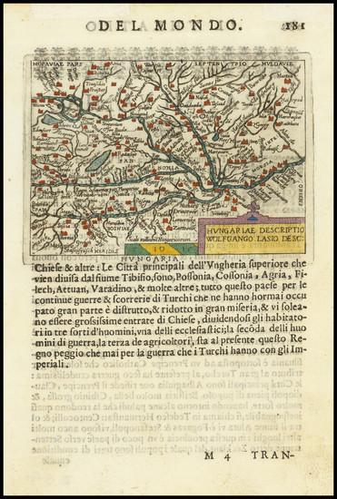 83-Hungary Map By Abraham Ortelius / Pietro Marchetti