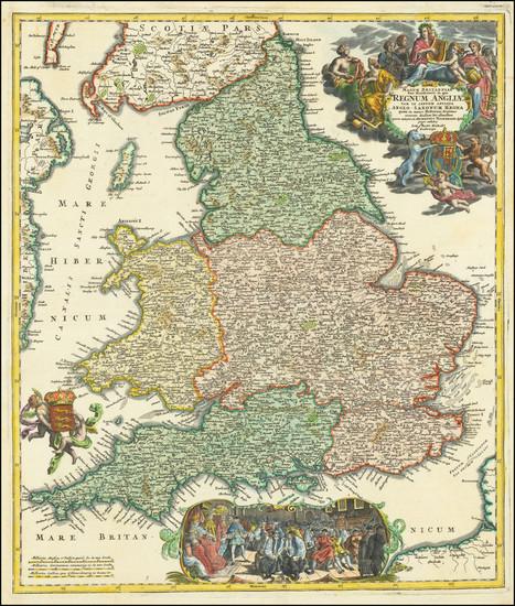 78-England Map By Johann Baptist Homann