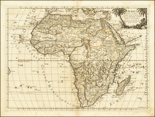 44-Africa Map By Giacomo Giovanni Rossi