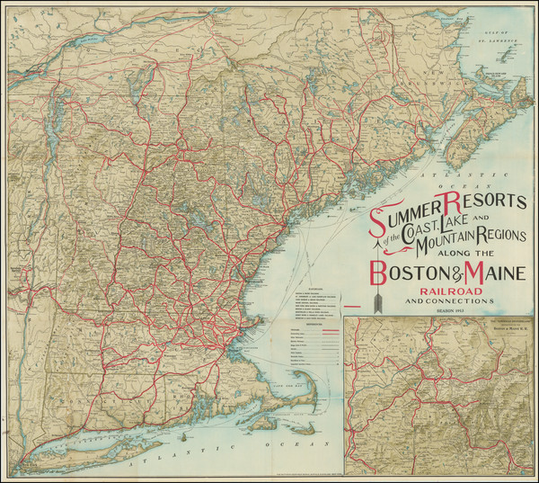 81-New England, Connecticut, Maine, Massachusetts, New Hampshire, Rhode Island and Vermont Map By