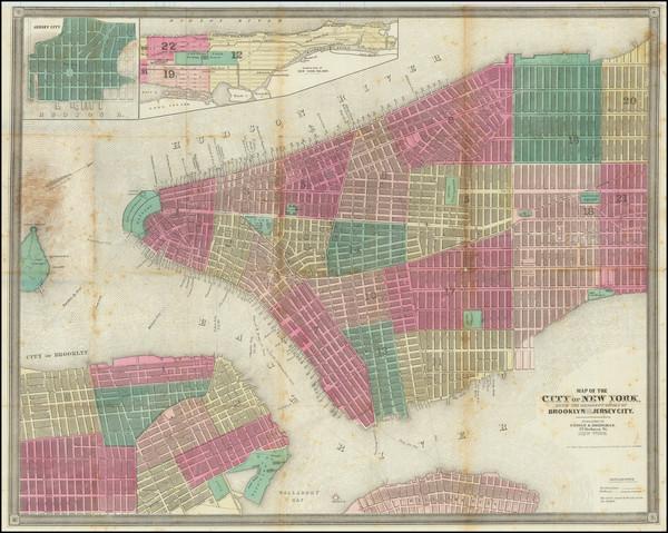 58-New York City Map By Ensign & Bridgeman