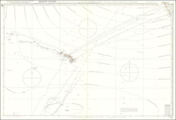7-Pacific Ocean, Hawaii and Hawaii Map By British Admiralty