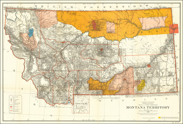 49-Montana Map By General Land Office
