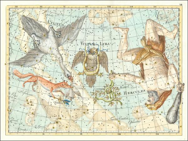 34-Celestial Maps Map By Johann Elert Bode