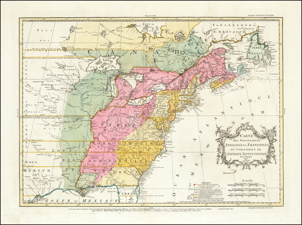 68-United States, North America and Canada Map By Thomas Kitchin / Jean Palairet