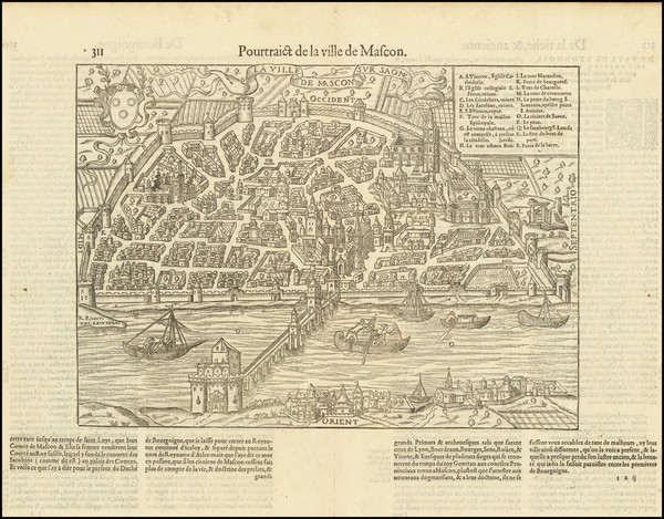 6-Other French Cities Map By Francois De Belleforest