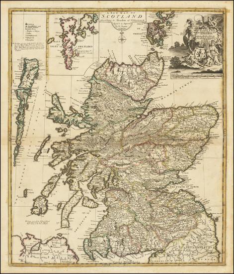 37-Scotland Map By John Senex