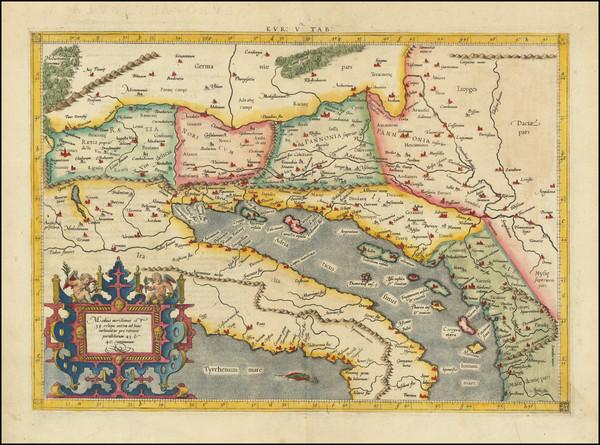 1-Balkans and Italy Map By  Gerard Mercator