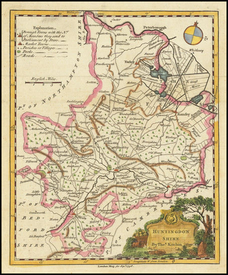 59-British Counties Map By Thomas Kitchin