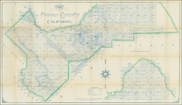 30-California Map By Punnett Brothers / C.F. Weber Co.